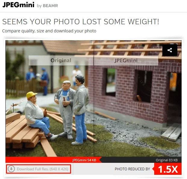 download your image from here when compress is done from jpegmini
