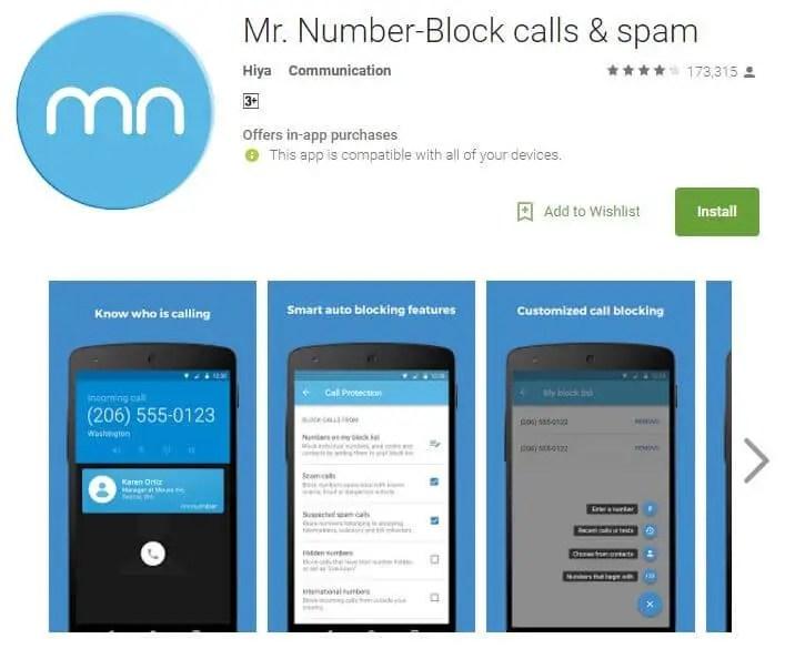 Mr. Number-Block calls & spam