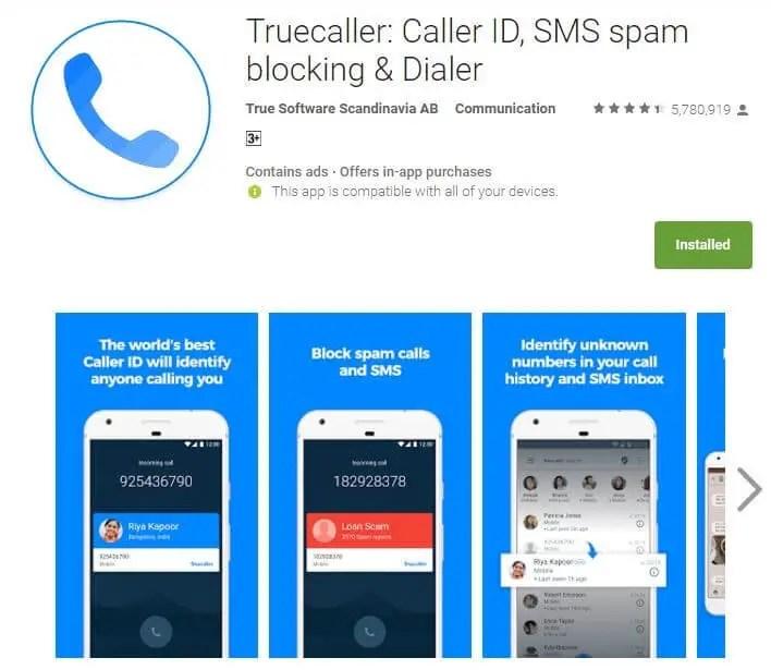 Truecaller Caller ID, SMS spam blocking & Dialer