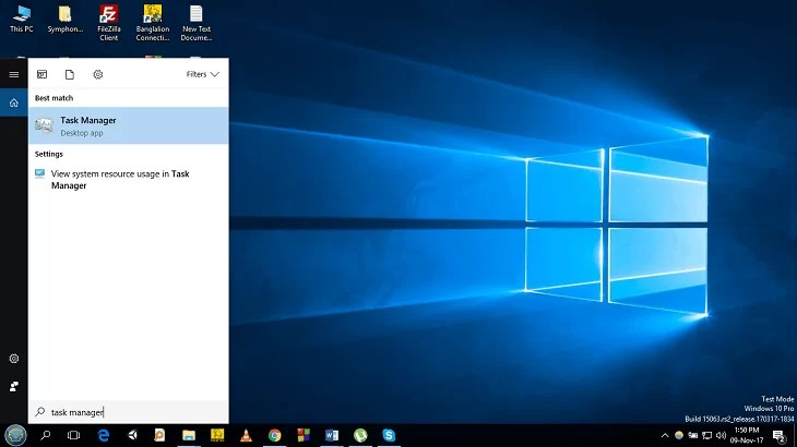 Using Task Manager(For Windows 8 or Later)