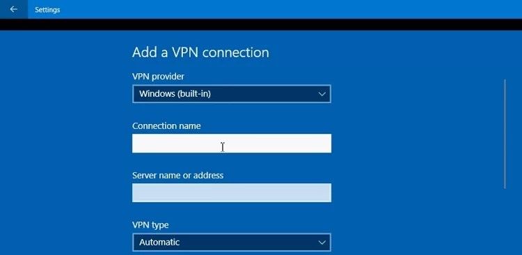 windows built in vpn