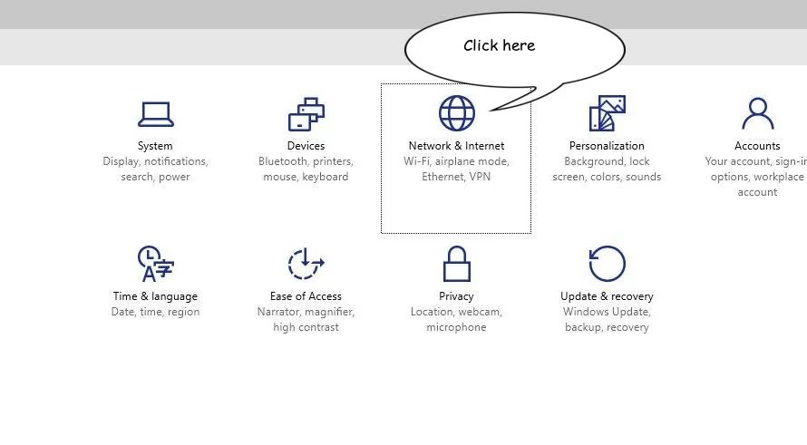 Windows 10 network and vpn settings