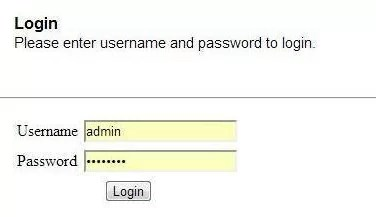 WIFI Router's Admin Panel