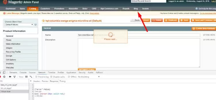 Setting up a Magento blog 1