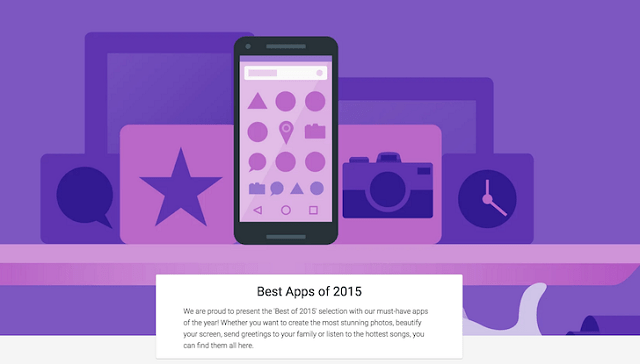 Best apps of 2015 for android by Google
