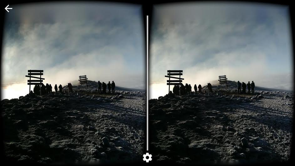 Cardboard Camera app view