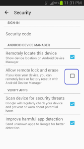 Remotely ring, lock and wipe data3
