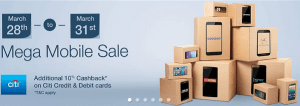 List of the best deals of Smartphones available through the Mega Mobile Sale at Amazon India