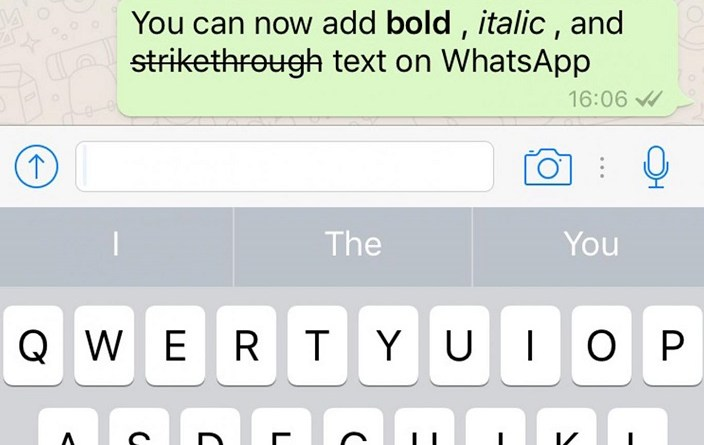 How to do text formatting in WhatsApp