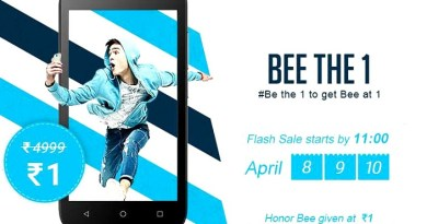 Get Honor Bee Smartphone worth Rs 4999 for just 1 rupee in a flash sale