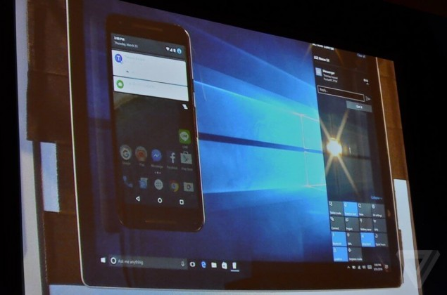 http://www.theverge.com/microsoft/2016/3/31/11340830/microsoft-action-center-in-the-cloud-android