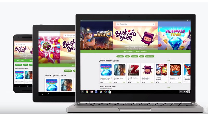 Google demonstrates the integration of Android Apps via Google Play in Chromebook