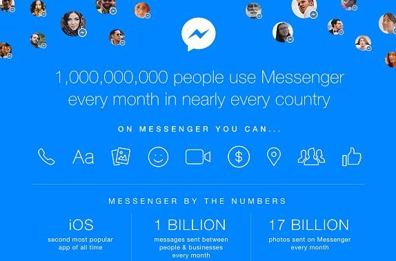 Facebook Messenger 1 Billion active users