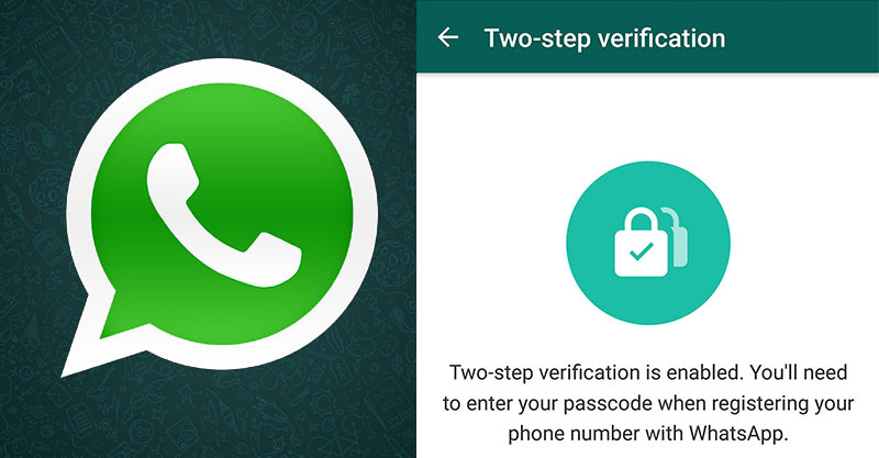two step verification in Whatsapp