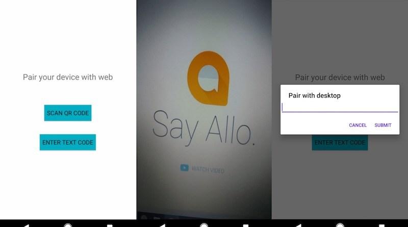 google allo web client