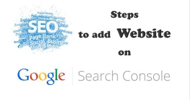 Steps to add website on Google Search console