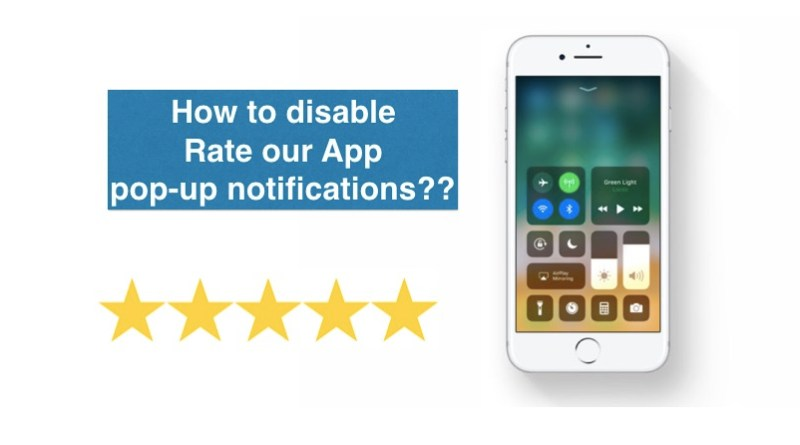 disable rate our app pop-up notifications