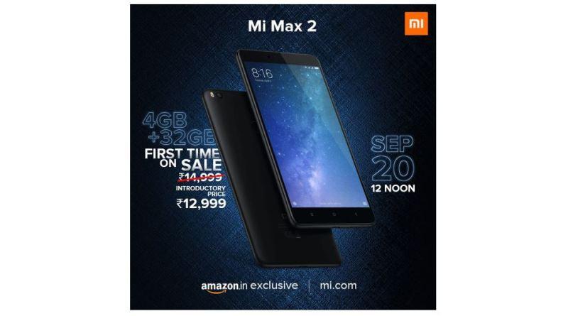32 gb rom variant mi max 2 india