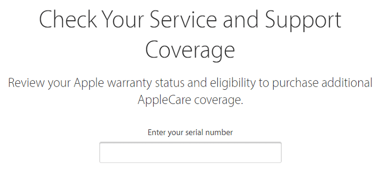 warranty and repair coverage for Apple product