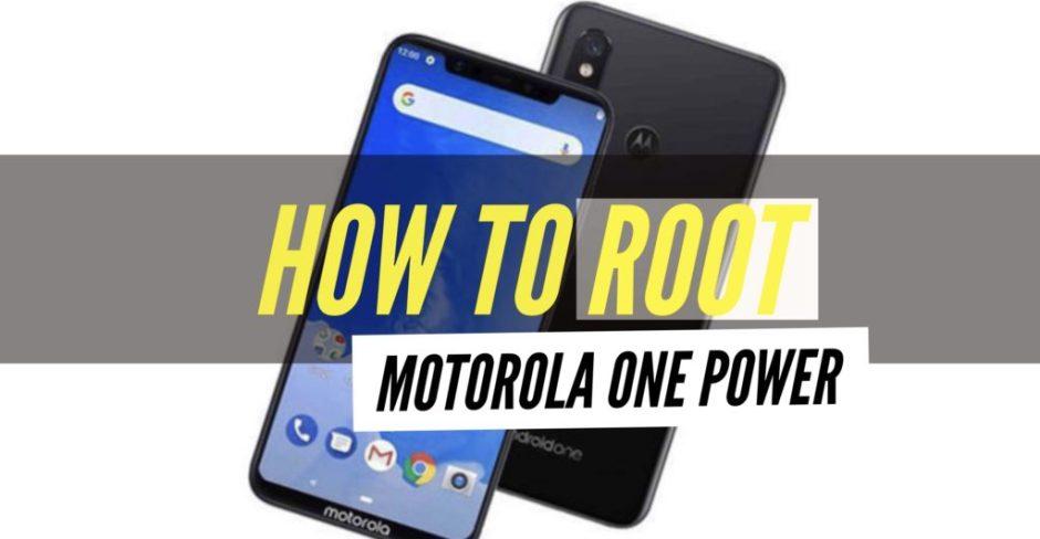 How to root motorola one power