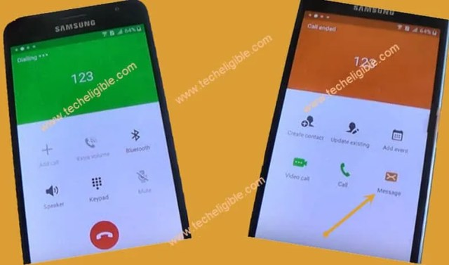 Call Emergency Number Samsung Galaxy J1 to bypass google account