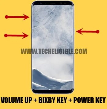 Enter into Samsung Galaxy Recovery Mode, frp bypass galaxy s8 by combination file