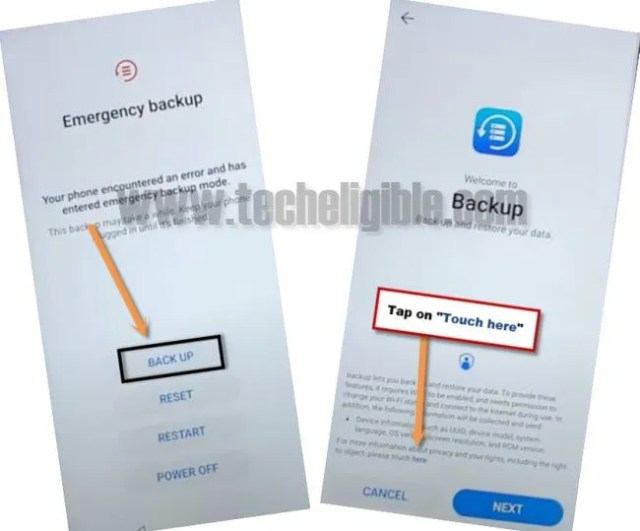 access to browser from emergency backup huawei emui 10.0.0 frp