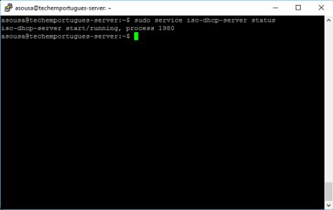 Configuração do Servidor DHCP - service restart