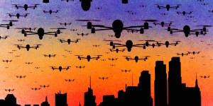 Número de drones que 'quase' colidem com aviões é preocupante