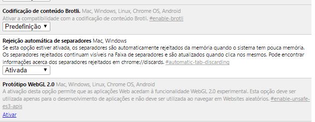 Google Chrome rejeição automática