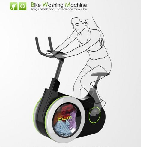 A invenção que te permite lavar a roupa e andar de bicicleta