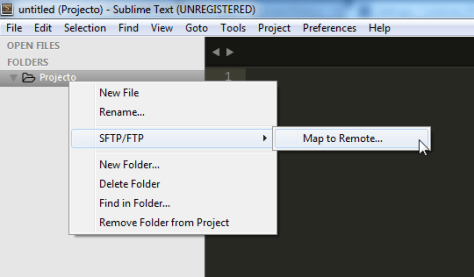 SFTP map to remote