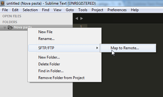 Sublime Text Map to remote FTP