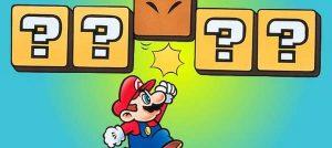 Mario a partir tijolos com a mão