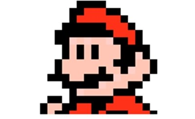 Bigode de Super Mario em pixeis