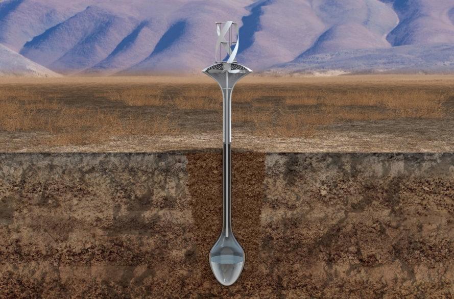 WaterSeer: Retirar 40 litros diários de água do vento