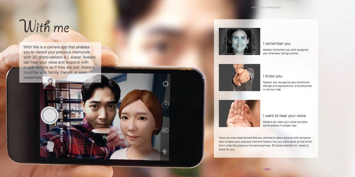 Aplicação que tira selfies com familiares ou amigos que já partiram