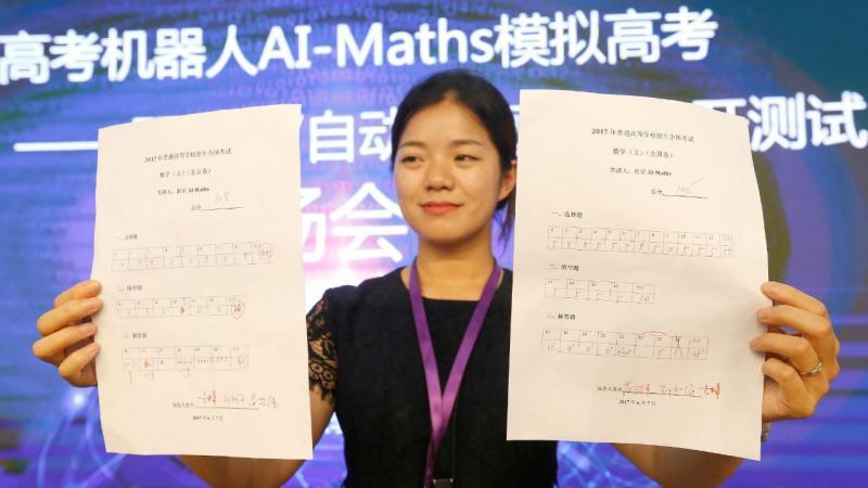 Robô chinês fez teste de matemática. Passou. Mas a nota não chega para a universidade