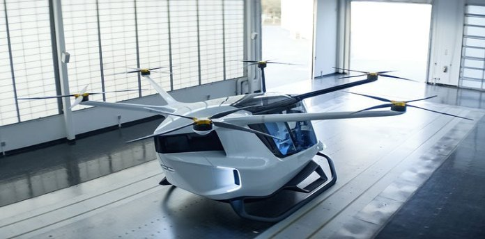 The world's first hydrogen powered eVTOL air taxi / Image: Alakai