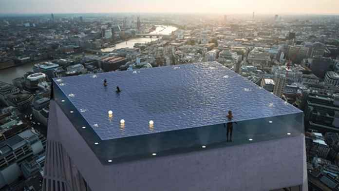 A rendering of the infinity pool/ Image: Compass Pools