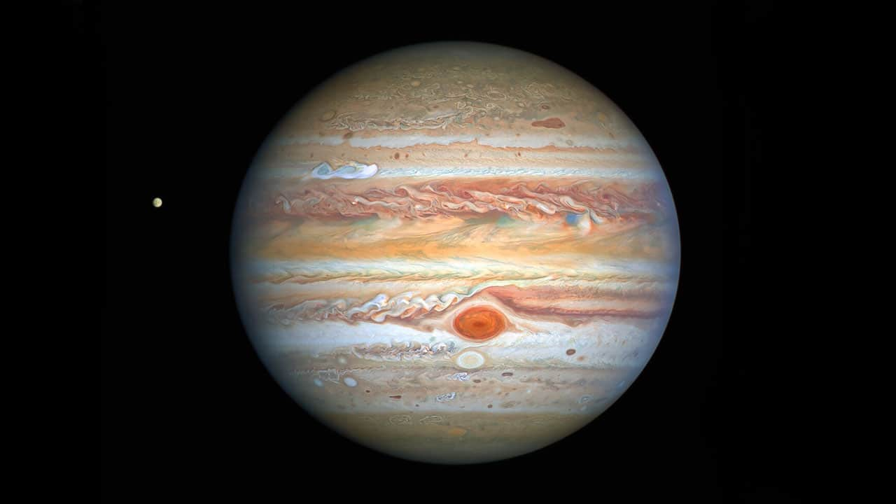 Hubble captures crisp new portrait of Jupiter and Europa