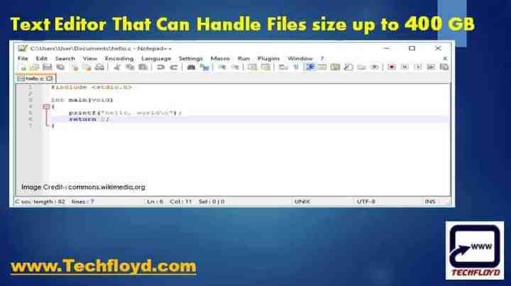 Text Editor That Can Handle Files size upto 400 GB