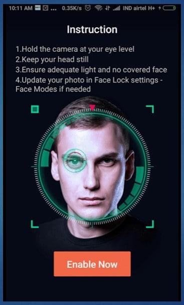 face lock Head over to face-lock option