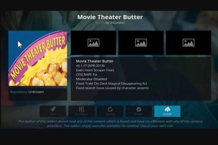 Movie Theater Butter Addon