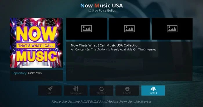 Now Music USA Addon