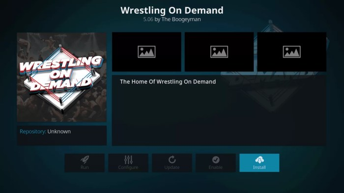 WWE On Demand Kodi Addon