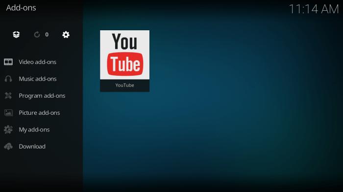 YouTube Kodi Addon