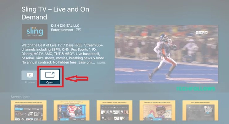 Sling TV on Apple TV