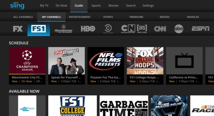 Sling TV on Xbox One