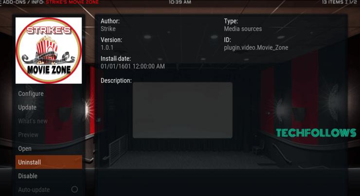 Movie Zone Addon